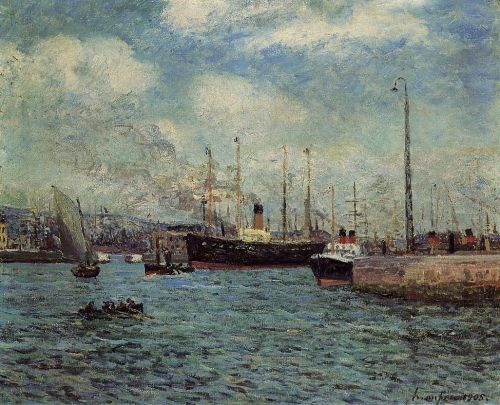 Port of Le Havre by Maxime Maufra