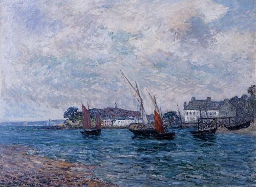 Reentering Port at Douarnenez by Maxime Maufra