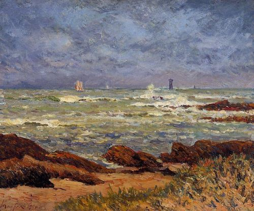 The Barges Lighthouse by Maxime Maufra