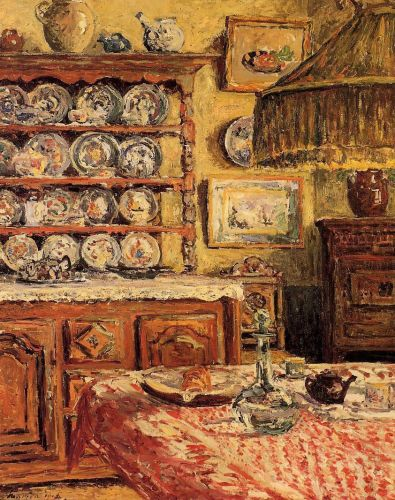 The Dining Room after Lunch by Maxime Maufra