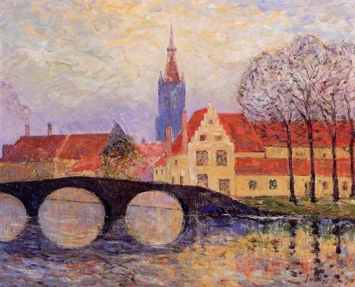 The Leguenay Bridge, Bruges by Maxime Maufra