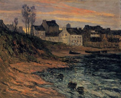 Twilight, Winter, Douarnenez by Maxime Maufra