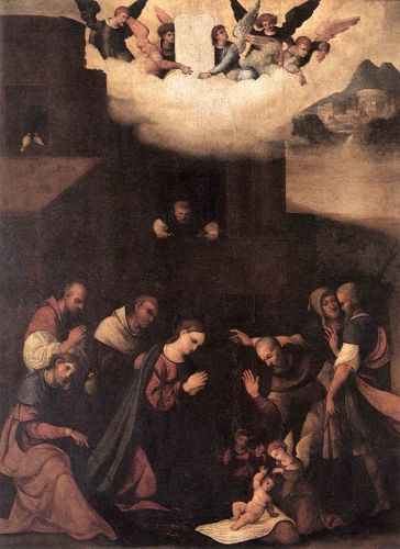 Adoration of the Shepherds by Ludovico Mazzolino