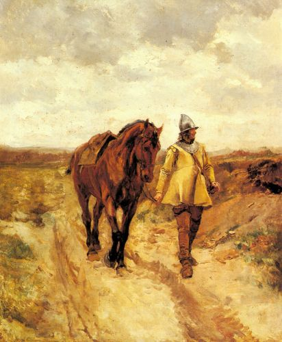 A Man of Arms and His Horse by Jean-Louis Ernest Meissonier