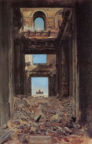 The Ruins of the Tuileries Palace after the Commune by Jean-Louis Ernest Meissonier