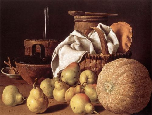 Still-life with Melon and Pears by Luis Meléndez