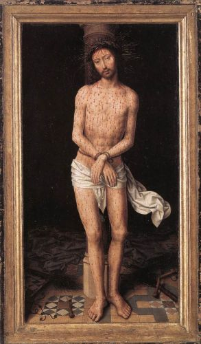 Christ at the Column by Hans Memling