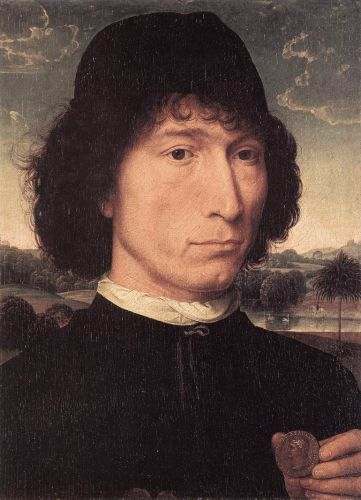 Portrait of a Man with a Roman Coin by Hans Memling