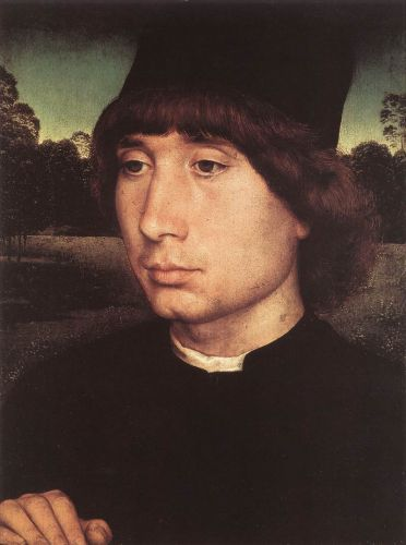 Portrait of a Young Man before a Landscape by Hans Memling
