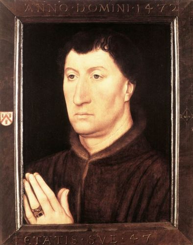 Portrait of Gilles Joye by Hans Memling