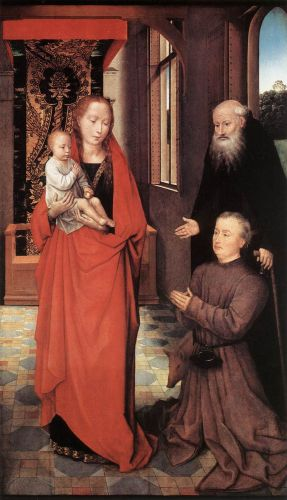 Virgin and Child with St Anthony the Abbot and a Donor by Hans Memling
