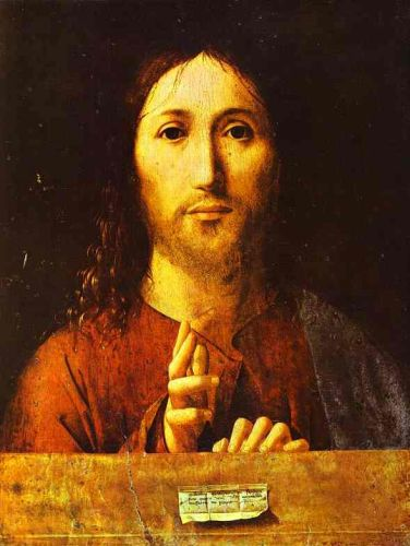 Christ Blessing by Antonello da Messina