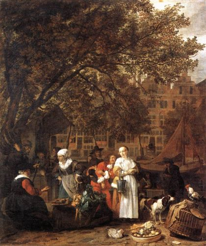 Vegetable Market in Amsterdam by Gabriel Metsu