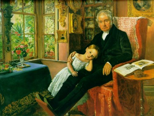 James Wyatt and His Granddaughter Mary by John Everett Millais