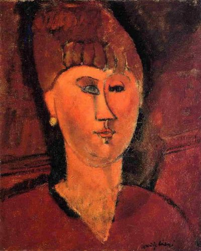 Head of a Red-Haired Woman by Amedeo Modigliani