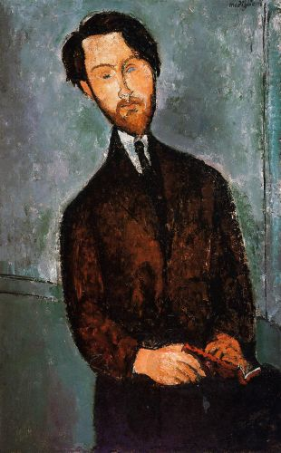 Leopold Zborowski by Amedeo Modigliani