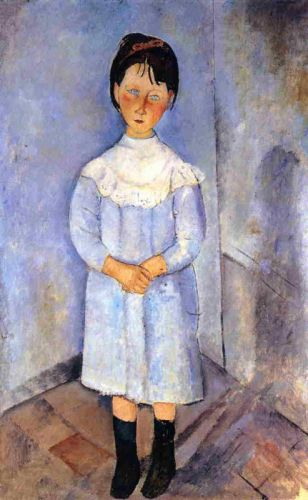 Little Girl in Blue by Amedeo Modigliani