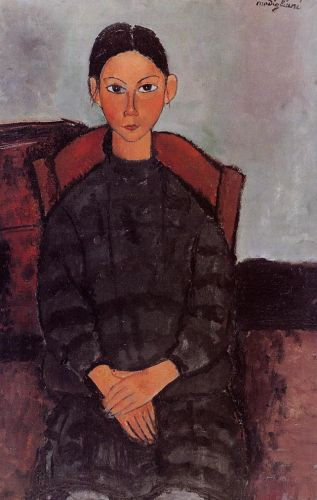 Young Girl in a Black Apron by Amedeo Modigliani
