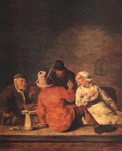 Peasants in the Tavern by Jan Miense Molenaer