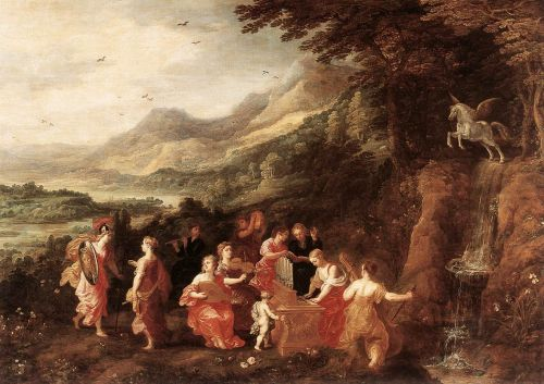 Helicon or Minerva's Visit to the Muses by Joos de Momper
