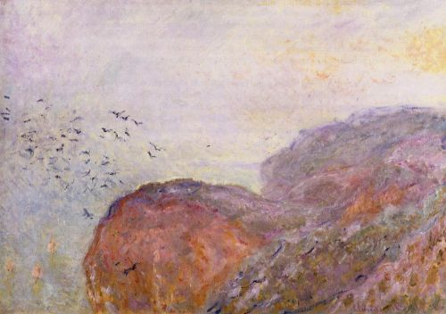 A Cliff near Dieppe, 1896 by Claude Monet