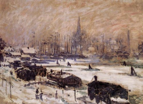 Amsterdam in the Snow, 1874 by Claude Monet