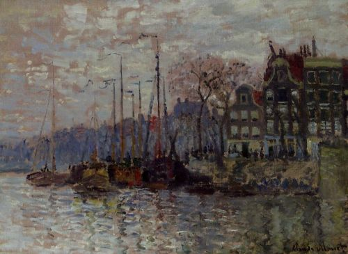 Amsterdam, 1874 by Claude Monet