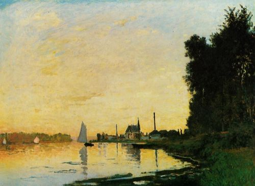 Argenteuil, Late Afternoon, 1872 by Claude Monet
