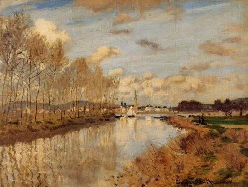 Argenteuil, Seen from the Small Arm of the Seine, 1872 by Claude Monet