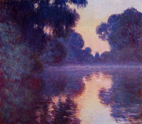 Arm of the Seine near Giverny at Sunrise, 1897 by Claude Monet