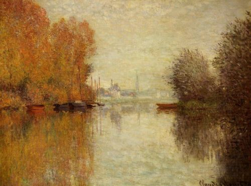 Autumn on the Seine at Argenteuil, 1873 by Claude Monet