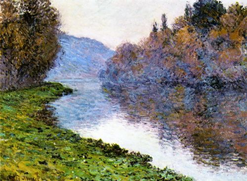 Banks of the Seine at Jenfosse: Clear Weather, 1884 by Claude Monet