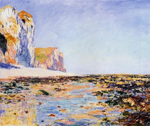 Beach and Cliffs at Pourville, Morning Effect, 1882 by Claude Monet