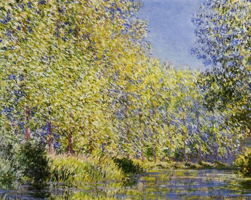 Bend in the River Epte, 1888 by Claude Monet