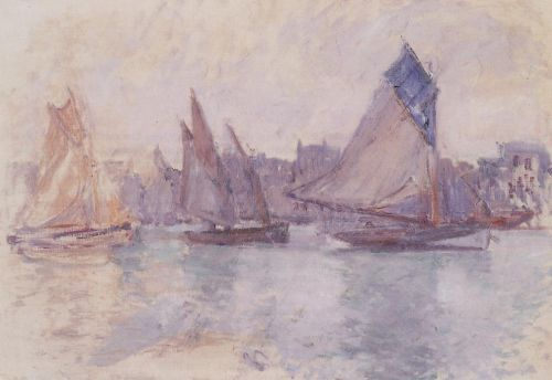 Boats in the Port of Le Havre, 1882 by Claude Monet