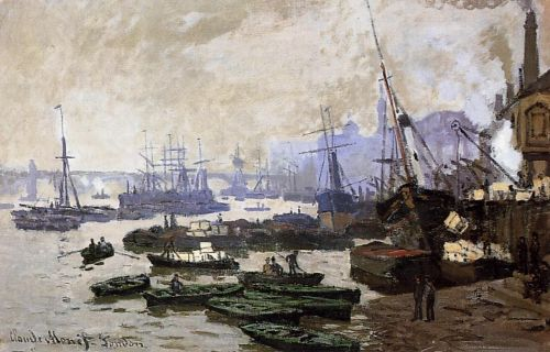 Boats in the Port of London, 1871 by Claude Monet