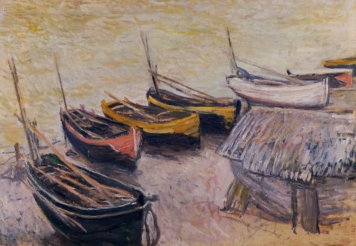 Boats on the Beach, 1883 by Claude Monet