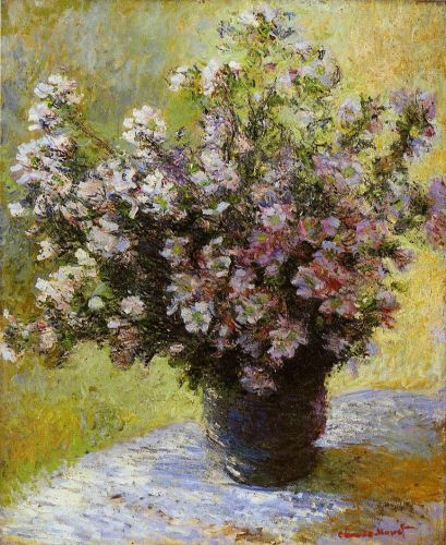 Bouquet of Mallows, 1880 by Claude Monet