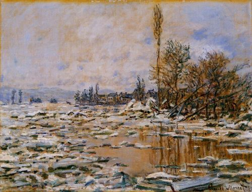 Breakup of Ice, Grey Weather, 1880 by Claude Monet