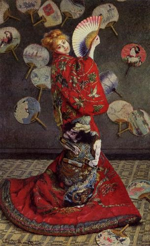 Camille Monet in Japanese Costume, 1876 by Claude Monet