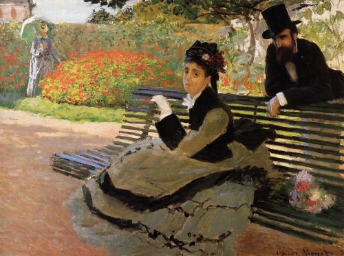 Camille Monet on a Garden Bench, 1873 by Claude Monet
