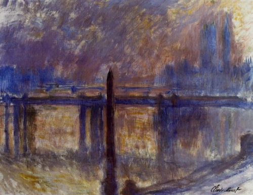 Charing Cross Bridge and Cleopatra's Needle by Claude Monet