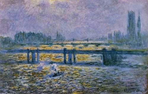 Charing Cross Bridge, Reflections on the Thames, 1899 by Claude Monet
