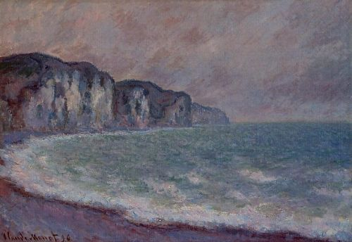 Cliff at Pourville, 1896 by Claude Monet