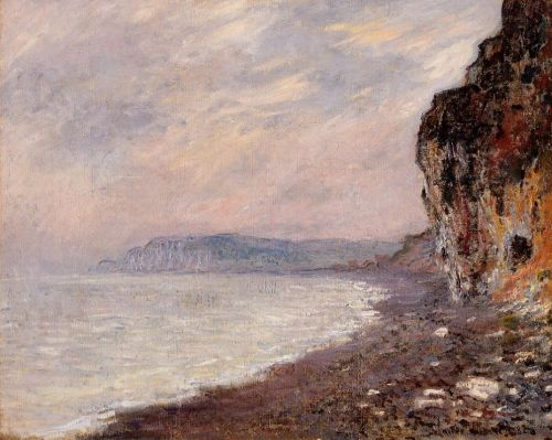 Cliff at Pourville in the Fog, 1882 by Claude Monet