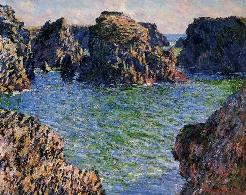 Coming into Port-Goulphar, Belle-Ile, 1886 by Claude Monet