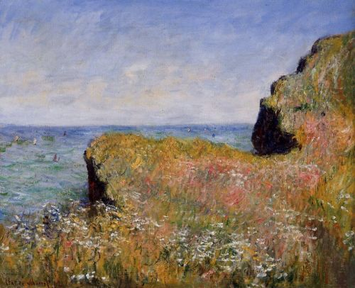 Edge of the Cliff, at Pourville, 1882 by Claude Monet