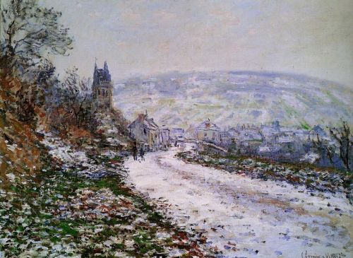 Entering the Village of Vetheuil in Winter, 1879 by Claude Monet