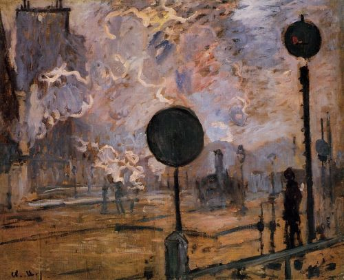 Exterior of Saint-Lazare Station, The Signal, 1877 by Claude Monet