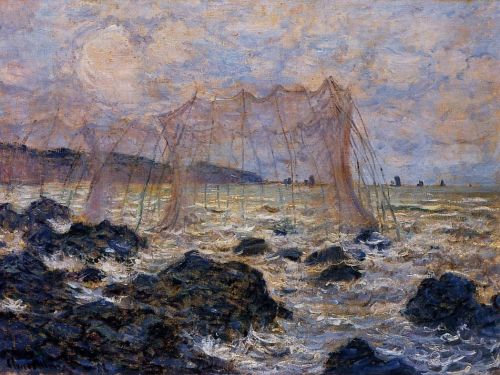 Fishing Nets at Pourville, 1882 by Claude Monet